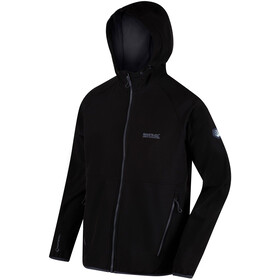 Regatta Arec II Chaqueta Softshell Hombre, black/seal grey
